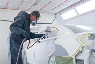 We prepare your vehicle for paint by sanding and applying primer and sealer.